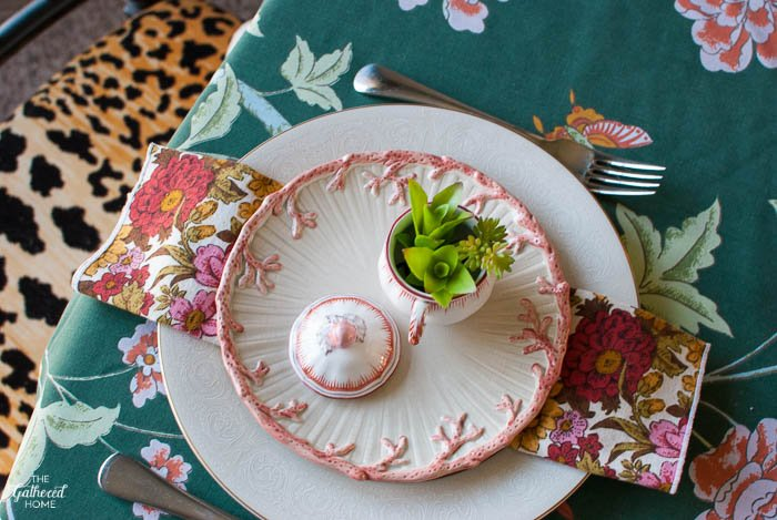Spring Succulent Table Setting The Gathered Home
