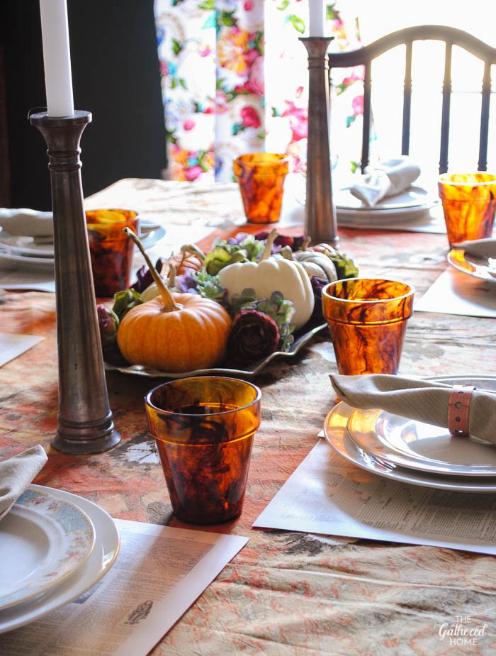 Thanksgiving Table Setting via the Gathered Home-4