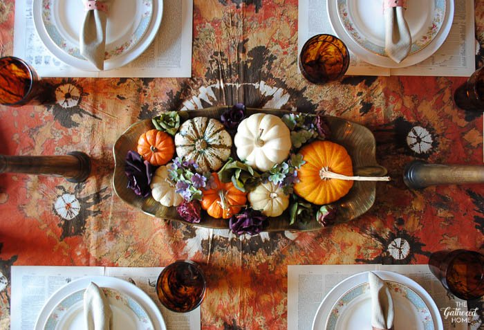 Thanksgiving Table Setting via the Gathered Home