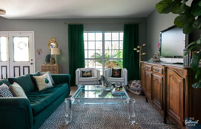 The Gathered Home Eclectic Glam Living Room Tour