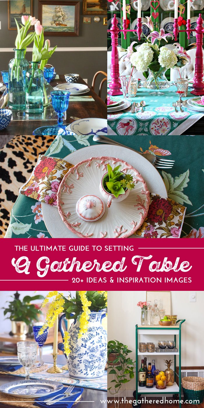 Do you love setting beautiful tables or wish you knew HOW to set pretty tables? This post has TONS of inspiration for using vintage, thrifted and found pieces to create gorgeous tablescapes!