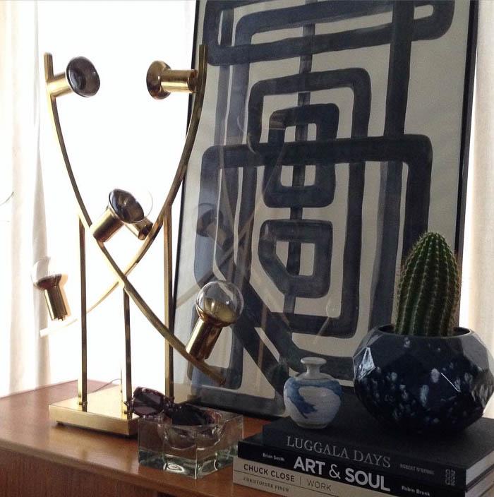 Thrift Score Thursday feature brass lamp via fwaynecollection