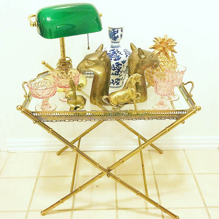Thrift Score Thursday feature brass treasure trove via elizabethrosedesigns_