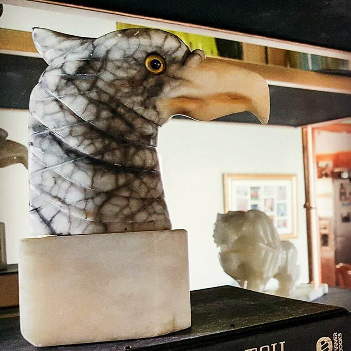 Thrift Score Thursday feature marble eagle head via julieaspear