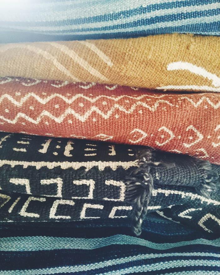 Thrift Score Thursday feature vintage mudcloth textiles via mmvintage59