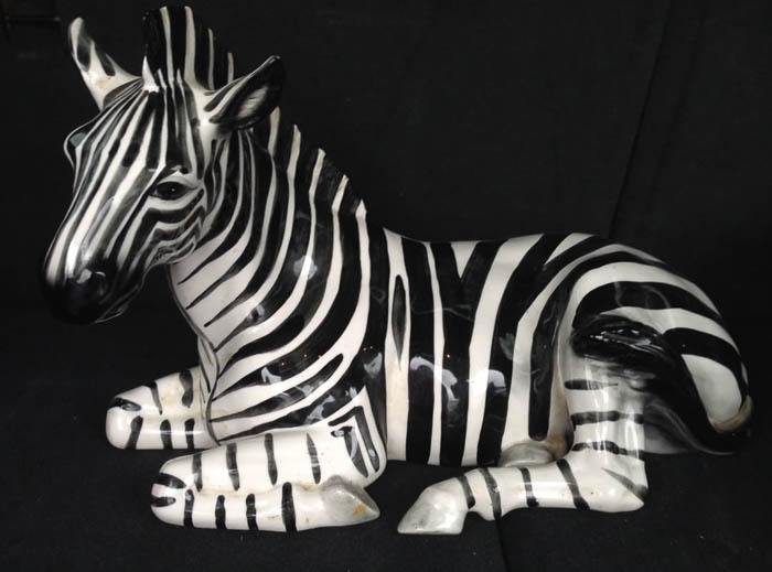 Thrift Score Thursday feature vintage zebra figure via jenc184