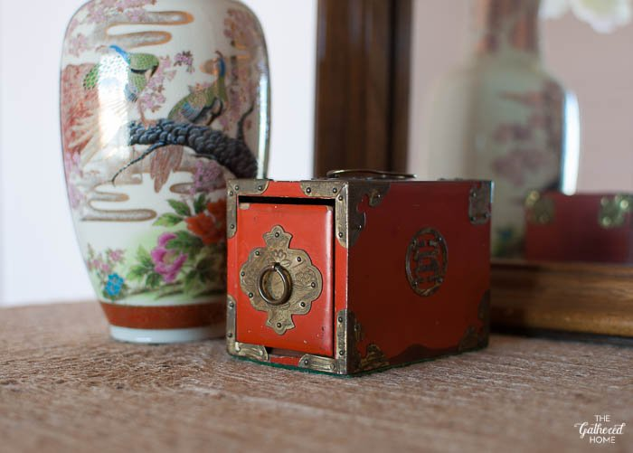 Blush Pink Master Bedroom Tour - Chinese trinket box | The Gathered Home