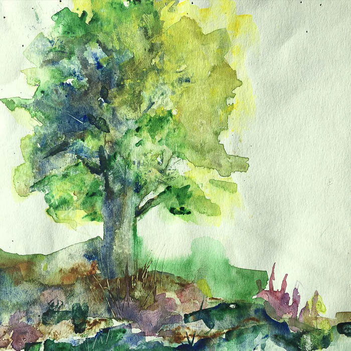 Thrit Score Thursday feature tree watercolor via hereandnowgoods