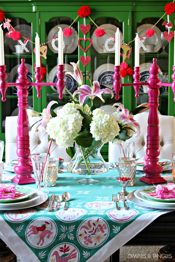 Valentine's Table via Dimples & Tangles