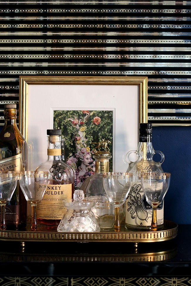 Vintage Barware Styling via Swoon Worthy
