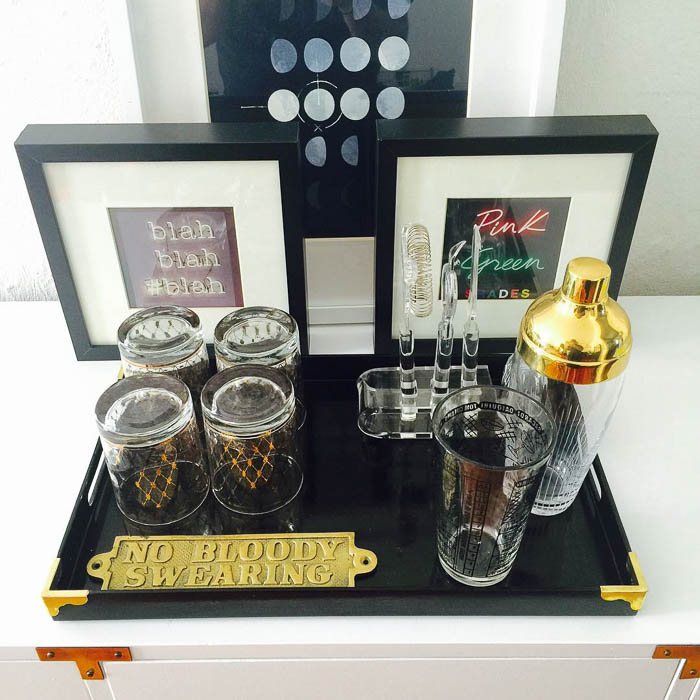 Vintage Thrifted Bar Tray via SoletoShare-2