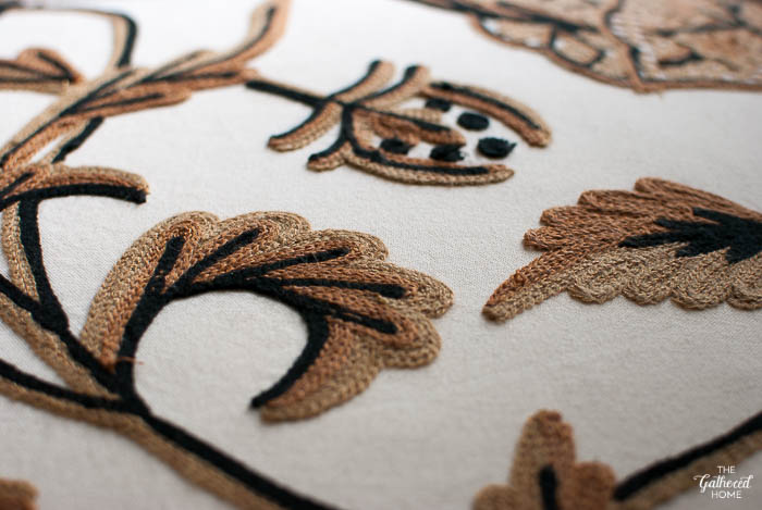 Crewel work detail. The ABC's of Gathering | The Gathered Home