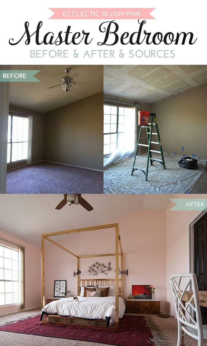Eclectic-Blush-Pink-Master-Bedroom-Before-and-After