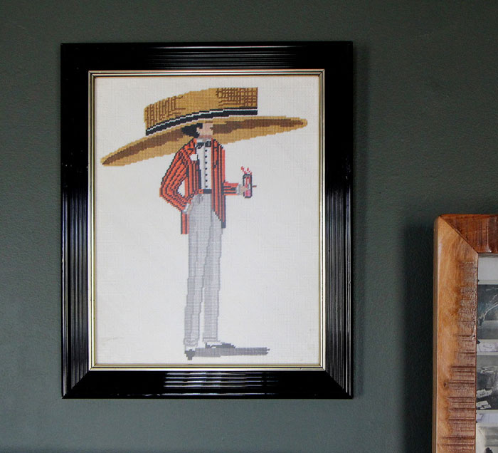 Embroidered Giant Hat Art via Scotch & Nonsense