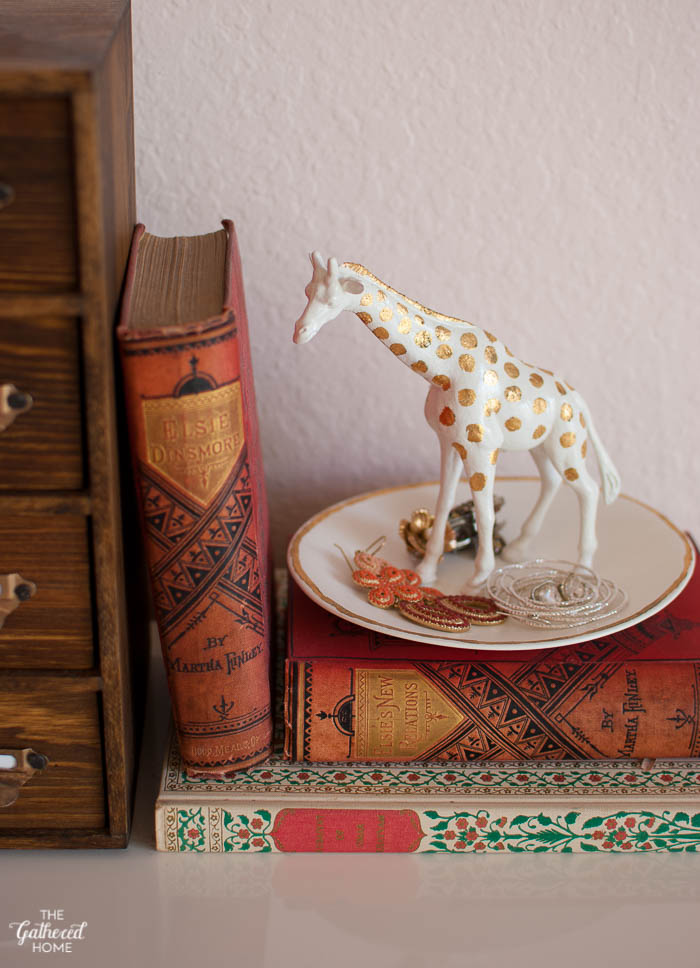Blush Pink Master Bedroom Tour - DIY giraffe trinket dish | The Gathered Home