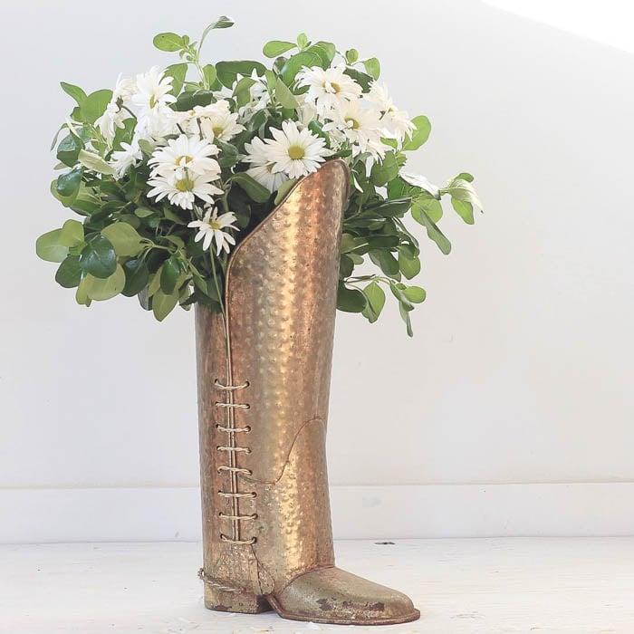 Thrift Score Thursday feature brass boot via greensprucedesigns