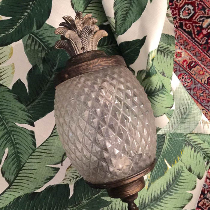 Thrift Score Thursday feature glass pineapple sconce via design_it_vintage