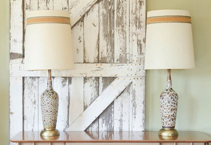 Thrift Score Thursday feature mid century fat glazed lamps via queen_patina