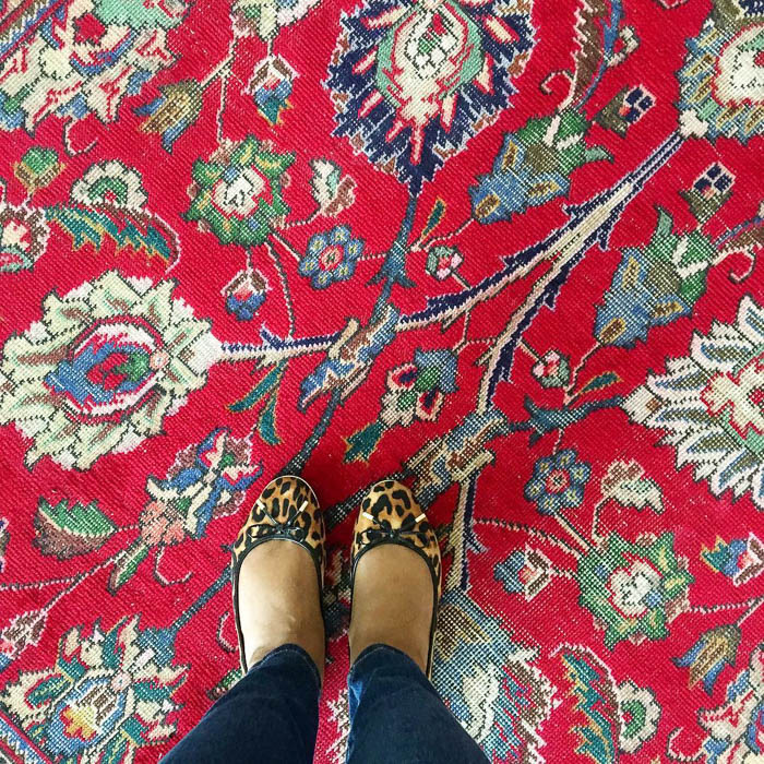 Thrift Score Thursday feature vintage Persian rug via theeventmaker