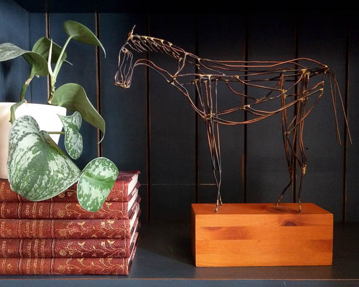 Thrift Score Thursday feature wire horse sculpture via doug_fritock-2