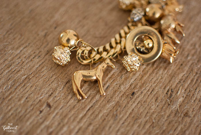 Thrift Score Thursday Gold Animal Charm Bracelet-2