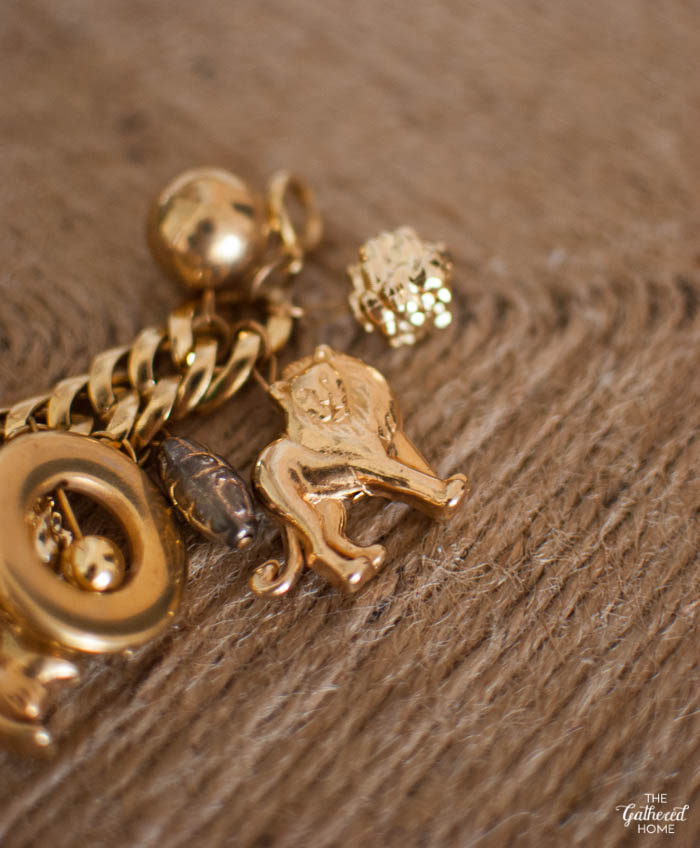 Thrift Score Thursday Gold Animal Charm Bracelet