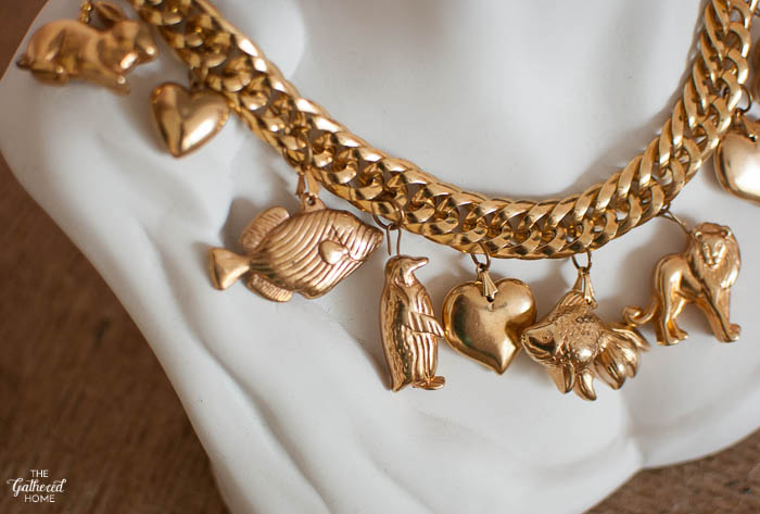 Thrift Score Thursday Gold Animal Charm Necklace