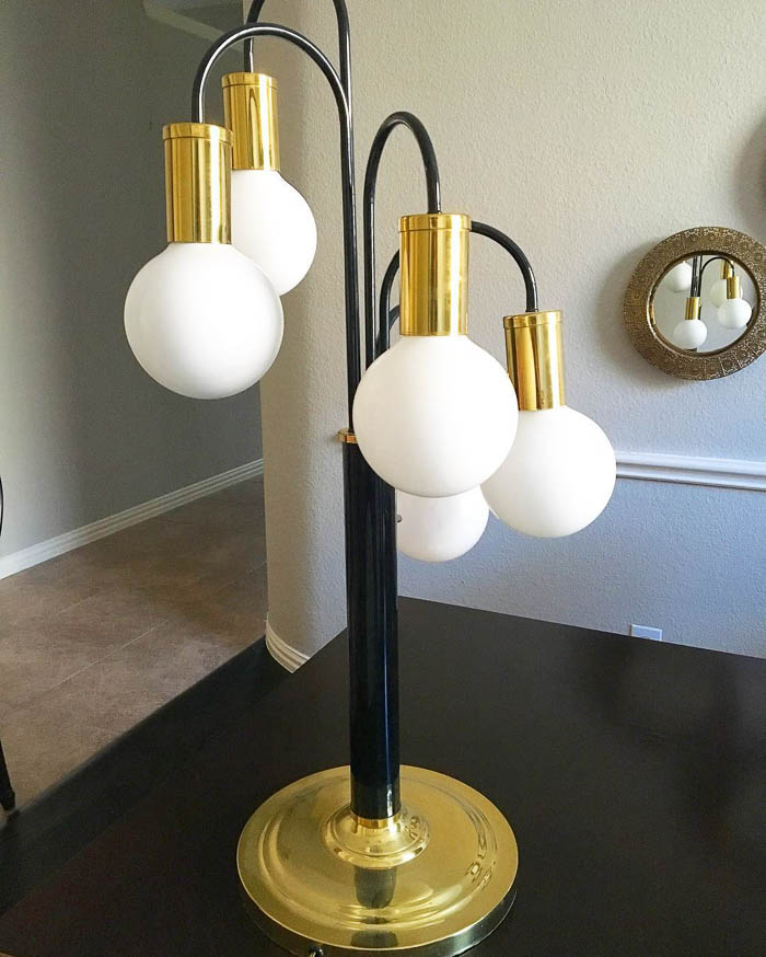Thrift Score Thursday feature mid century tear drop lamp via theeventmaker