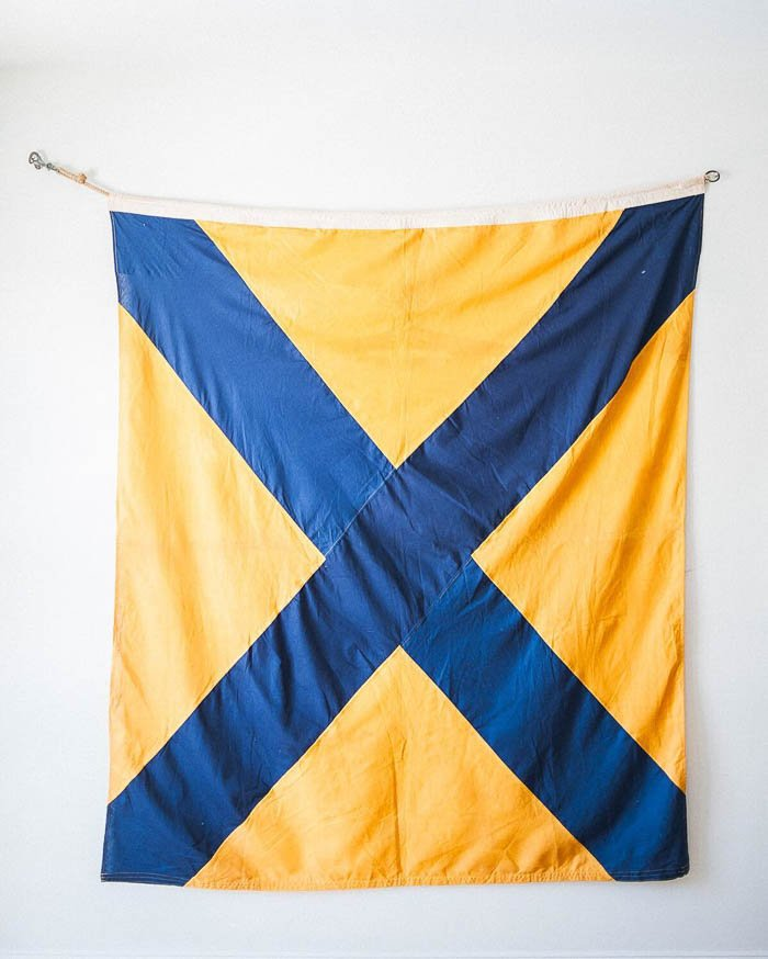 Thrift Score Thursday feature nautical flag number five via melissabrandman