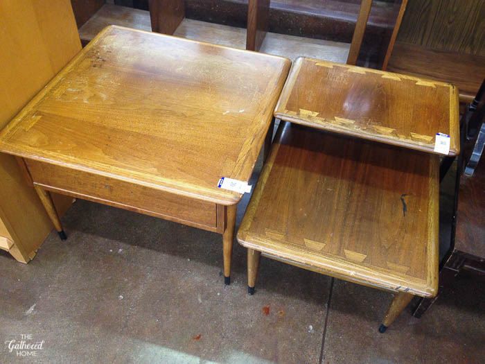Thrift Score Thursday vintage Lane Acclaim tables - The Gathered Home-3