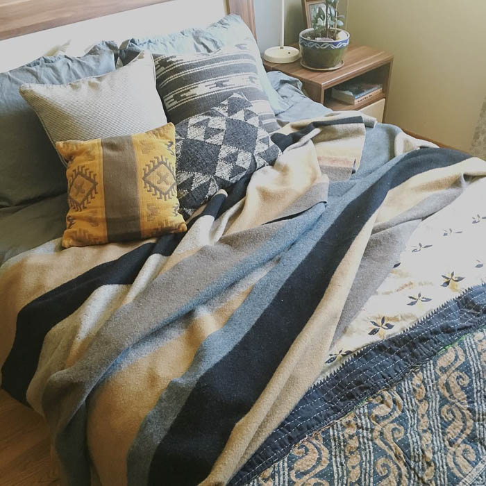 Thrift Score Thursday feature vintage wool blanket via wellsheltered