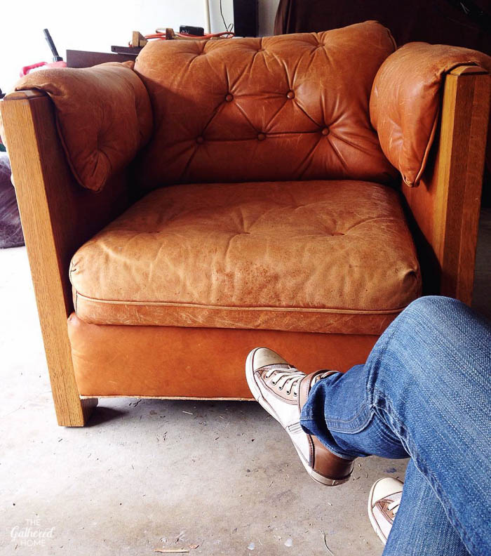 vintage leather a brandt chair