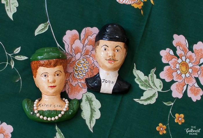 Thrift Score THursday vintage John and Katherine wall hangings-8