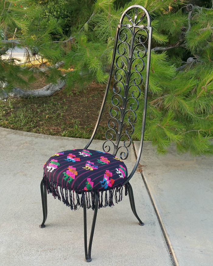 Thrift Score Thursday feature Bohemian iron chair via vintageparlororiginals
