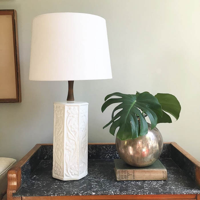 Thrift Score Thursday feature mid century lamp via thesimplesketchbook
