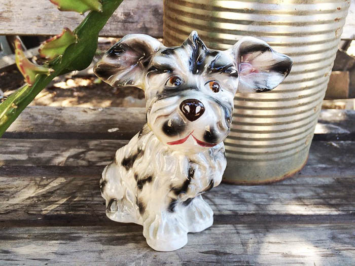 Thrift Score Thursday vintage dog planter via cactushound