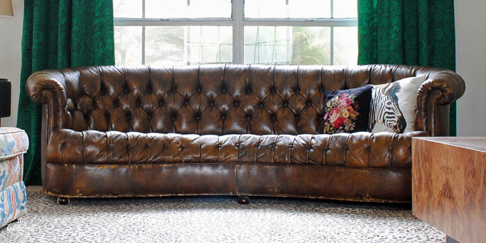 Craigslist Find Vintage Leather Chesterfield Sofa