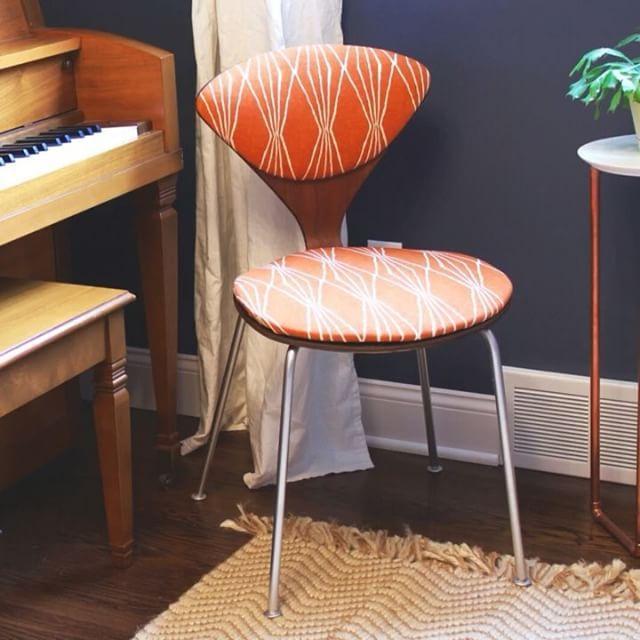 Thrift Score Thursday Norman Cherner chair redo via sawissinger