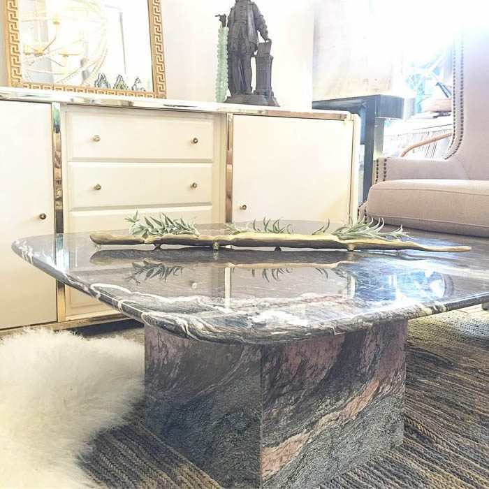 Thrift Score Thursday feature marble coffee table via againkatharinelake