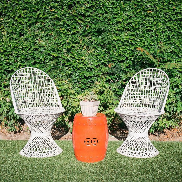 Thrift Score Thursday feature vintage spun fiberglass chairs via melissabrandman