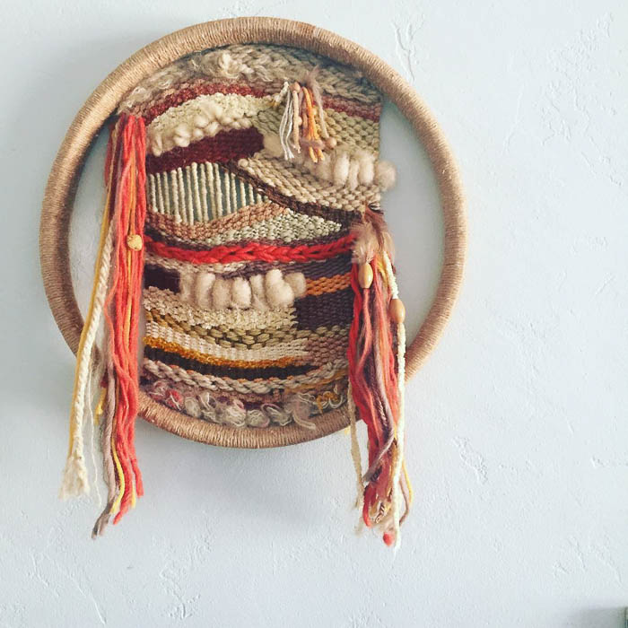Thrift Score Thursday feature woven wall hanging via mesavintage