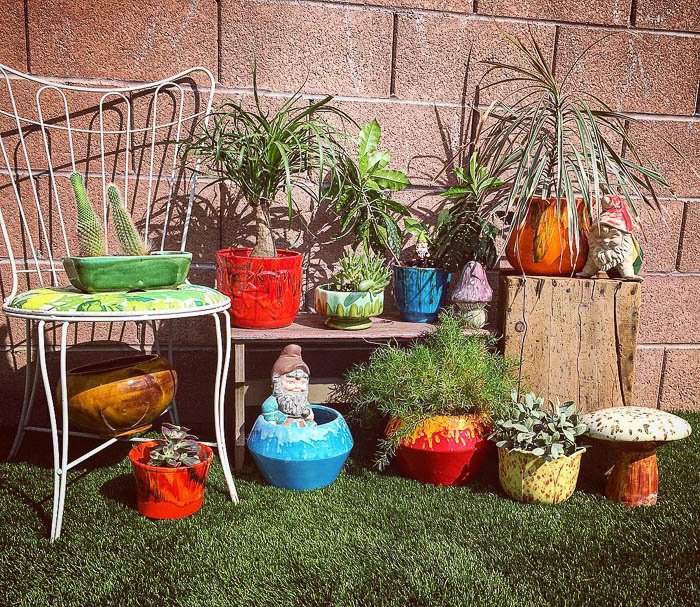 Thrift Score Thursday vintage planter collection via jessicadwolf