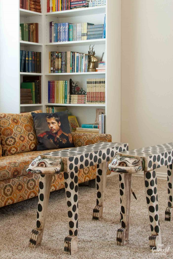 the-gathered-home-library-hand-carved-and-painted-leopard-tables