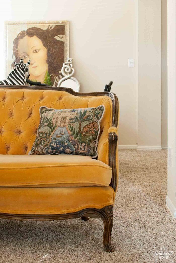 antique-meyer-gunther-martini-tufted-yellow-velvet-sofa