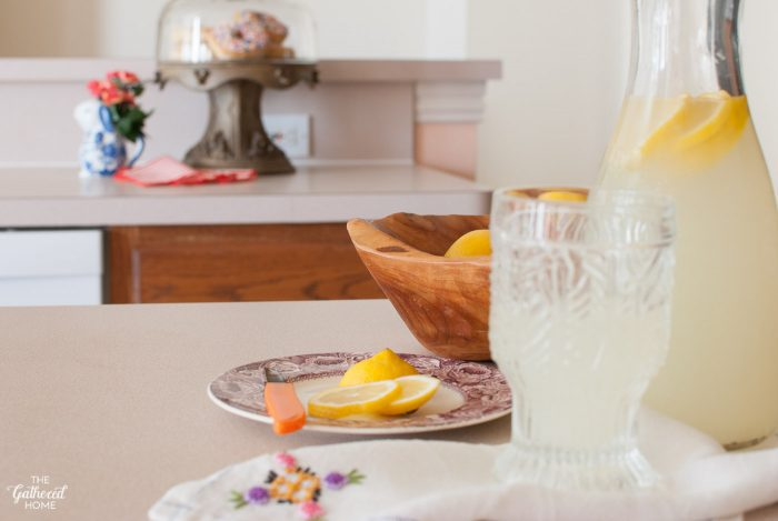 Lemonade in The Gathered Home's pink kitchen
