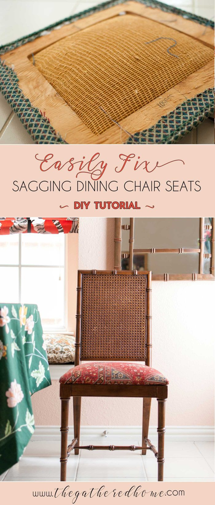 How To Fix A Sagging Dining Chair Seat The Gathered Home