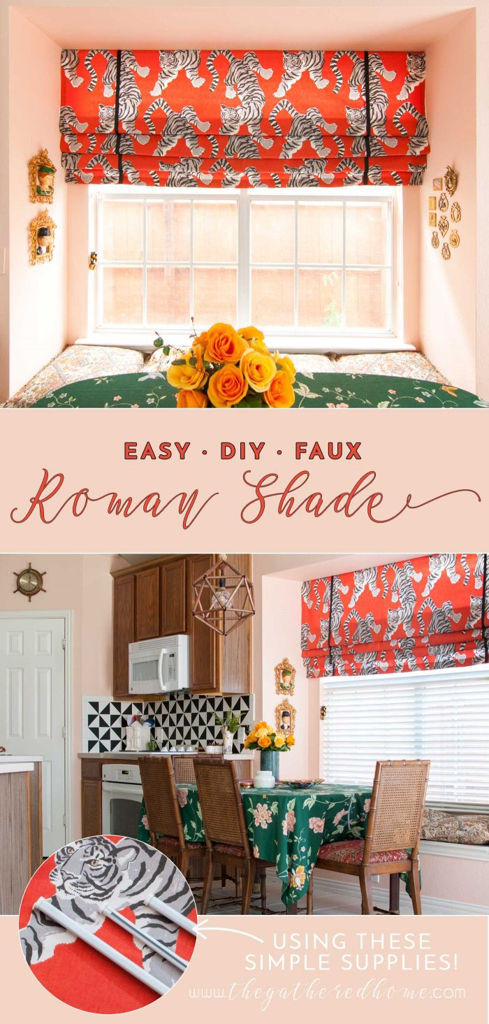 A classic window treatment gets a wild makeover! Minimal sewing plus one nifty hardware store secret = easy DIY faux Roman shades!