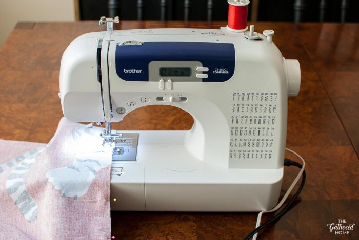 sewing-fabric-on-brother-sewing-machine-for-diy-roman-shade