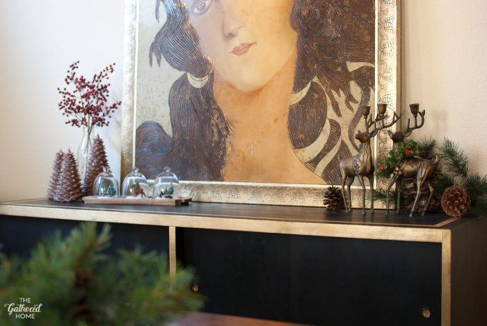 Vintage Eclectic Christmas Home Tour - holiday sideboard