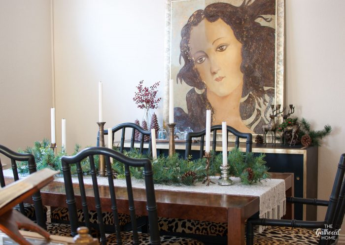 Vintage Eclectic Christmas Home Tour - the dining room